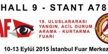 NESAR, 10-13 EYLÜL TARİHLERİNDE, 19. ISAH SHF FUARINDA