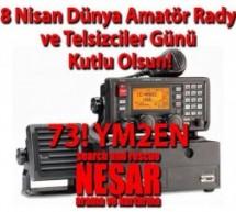 18 Nisan Dünya Amatör Radyo ve Telsizciler Günü Kutlu Olsun! 73! YM2EN